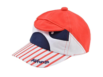 凯维帽业-儿童条纹绣花可爱新款卡通驳接棒球帽RM443