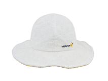 黑白视频体育直播-米白色儿童碎花蝴蝶结新款遮阳帽RM446