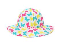 凯维帽业-彩色蝴蝶印花小女孩大边帽RM451