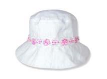凯维帽业-白色简约女童夏季户外遮阳桶帽RM464