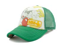 凯维帽业-老鼠印花绣花混搭网布拼接透气棒球帽RM473