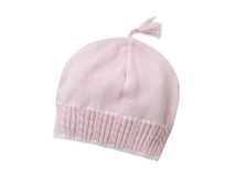 凯维帽业-粉红色儿童简约针织帽AM070