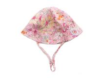 凯维帽业-粉色婴儿花朵印花夏季小边帽AM074