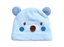 凯维帽业-浅蓝色小熊绣花可爱套头帽AM089