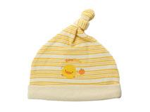 凯维帽业-尖顶条纹婴儿套头套头帽AM091