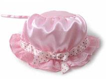 凯维帽业-婴幼儿蕾丝边帽 单色光身工艺AM097