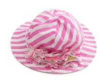 凯维帽业-婴幼儿防晒遮阳条纹纯棉帽子AM098