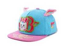 凯维帽业-春夏新款撞色拼接3D绣花平沿嘻哈帽 RM483