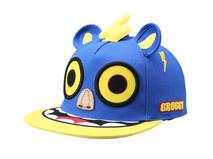 凯维帽业-3D绣花嘻哈平沿帽 撞色拼接RM493