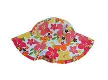 凯维帽业-儿童印花花朵遮阳帽RM518