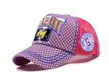 凯维帽业-新款女生格子3D绣花棒球帽BJ322
