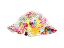 凯维帽业-小女孩花朵印花遮阳盆帽RM536