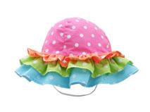 凯维帽业-撞色拼接荷叶边小女孩小边帽RM540