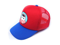 凯维帽业-撞色拼接小猫咪网布透气五页遮阳棒球帽 RM545