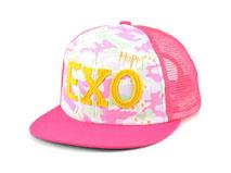 凯维帽业-新款拼色贴布绣花字母迷彩遮阳平额帽RM553