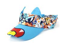 凯维帽业-儿童卡通绣花印花混搭遮阳空顶帽RM554