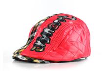 凯维帽业-PU皮红色儿童鸭舌帽定做RP193