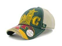 凯维帽业-新款春夏撞色拼接网布透气六页棒球帽 BM290