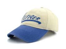 凯维帽业-蓝白色拼接绣花字母春夏六页遮阳棒球帽BM291