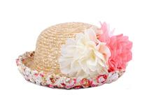 凯维帽业-蕾丝花边折边装饰花朵春夏户外遮阳草帽RM502