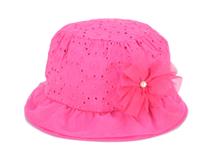 凯维帽业-2015新款装饰花点点女童时装小边帽 RT337