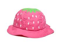 凯维帽业-纯色草莓点点可爱遮阳小边帽RT454