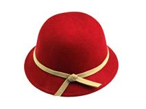 凯维帽业-儿童 女士纯色简约毛呢定型帽RW438