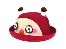 凯维帽业-折边儿童卡通毛呢定型帽RW458