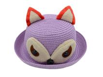 凯维帽业-儿童狐狸可爱草帽定做RZ087