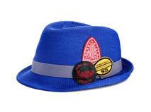 凯维帽业-2015新款儿童定型礼帽 草帽定做RZ088
