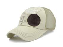 凯维帽业-米白色春夏透气印花绣花混搭棒球帽BM300