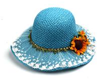 凯维帽业-春夏透气蕾丝拼接向日葵海滩遮阳草帽RZ240