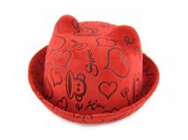 凯维帽业-春夏大嘴猴卡通印花定型礼帽RZ242