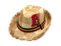 凯维帽业-儿童洗水做旧沙滩遮阳定型草帽定做RZ281