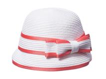凯维帽业-蝴蝶结简约儿童定型沙滩遮阳草帽RZ329