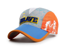 凯维帽业-新款撞色拼接字母绣花透气运动帽HT064
