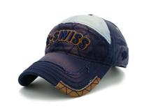 凯维帽业-撞色拼接驳接绣花洗水做旧棒球帽BM312