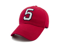 黑白视频体育直播-红色绣花简约六页帽 春夏遮阳棒球帽BM314