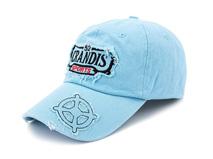 凯维帽业-纯色贴布绣花遮阳棒球帽BM320