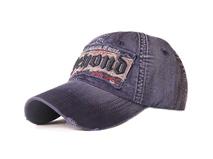 凯维帽业-春夏遮阳牛仔洗水做旧绣花棒球帽BM338