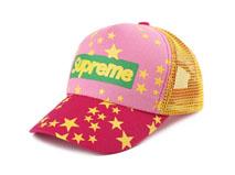 凯维帽业-新款星星透气印花网眼五页棒球帽BM345