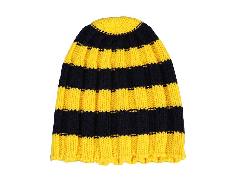 黑白视频体育直播-冬季超厚条纹防风针织帽 ZM061