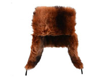 凯维帽业-时尚男士牛皮风雪帽定做 LF035