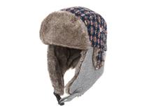 凯维帽业-中性男女款格子拼接雷锋帽定做LF037