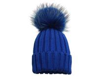凯维帽业-时尚女士冬季新款针织绒毛帽子定制 ZM074
