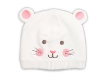 凯维帽业-可爱小熊婴儿针织帽纯羊毛ZM089