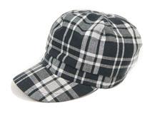 凯维帽业-韩版新款 时尚格子平顶帽JT075