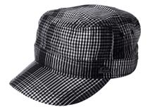 凯维帽业-韩版做旧深色平顶帽JT077