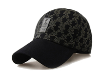 凯维帽业-秋冬加厚款 格子休闲男士棒球帽 BM382