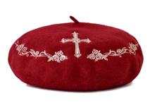 凯维帽业-秋冬欧洲复古羊毛贝雷帽FW042
